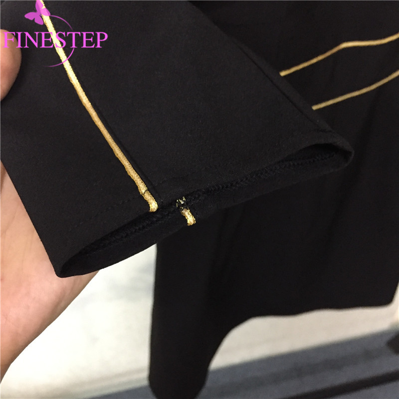 Peter Partie Mode Pan Haute Femmes Genou Pour Col Retour Robe Office Automne Qualité Robes Noir longueur Lady mN08vnwOPy