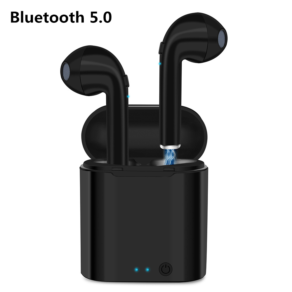 Wireless Earpiece Bluetooth Earphones i7s Single TWS Earbuds Headset With Mic Fo