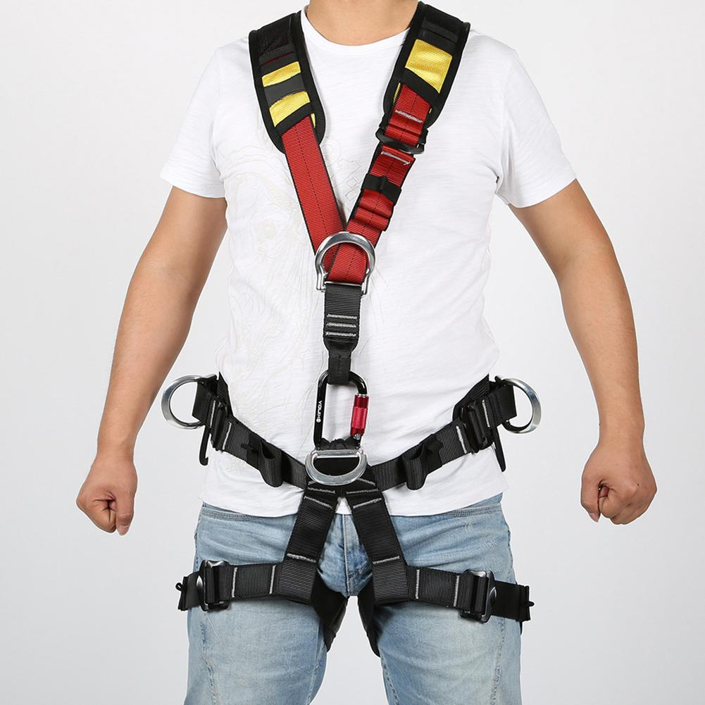 Outdoor Rock Aerial Work Safety Shoulder Strap Harness Rock Climbing Protection Full Body Safety Belt Anti Fall Protective Gear