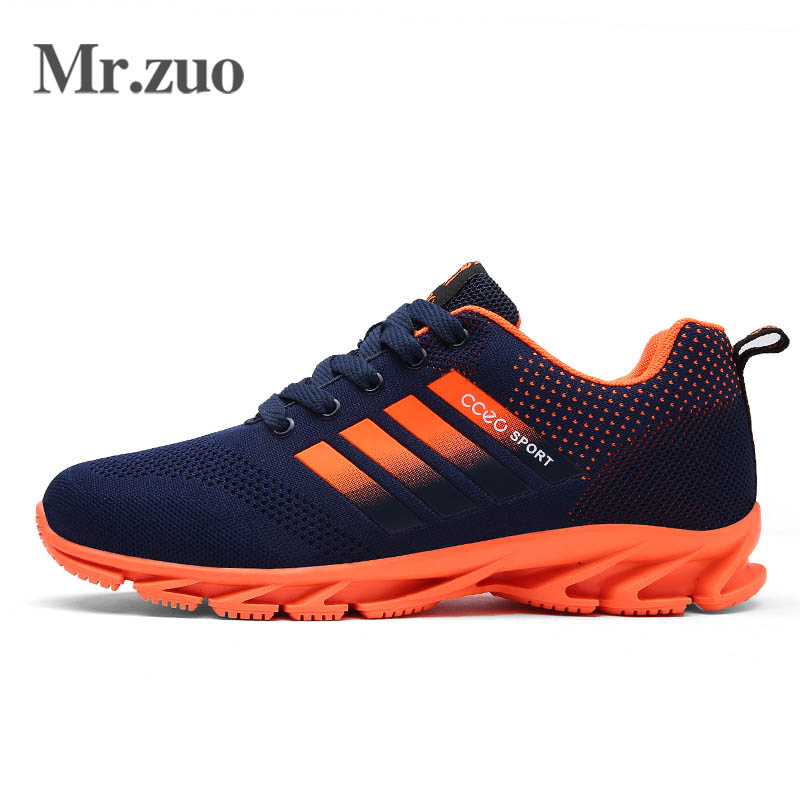 Sneakers for men lace-up running shoes for men breathable superstar shoes Hard-Wearing mens gym shoes Air sport shoes black
