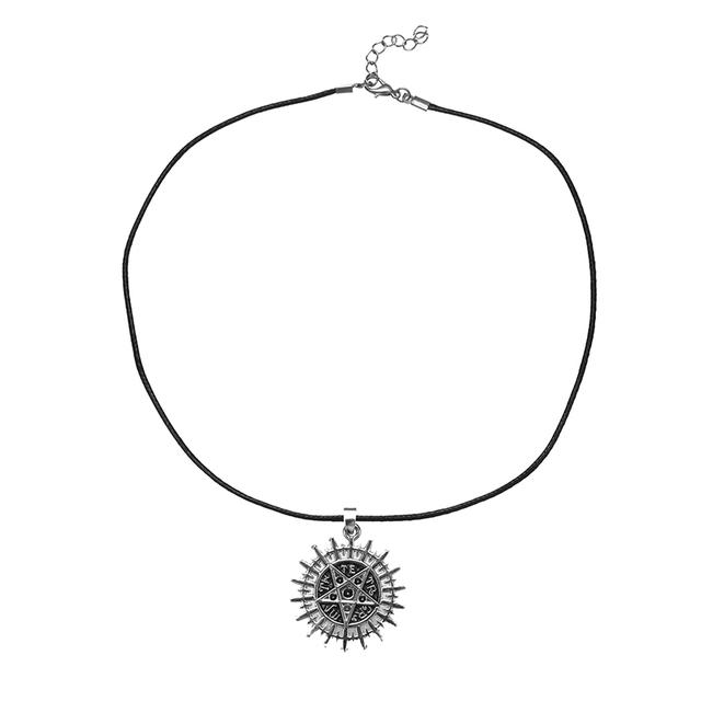 Black Butler Anime Sebastian's Pentacle Pentagram Symbol Logo Pendant Necklace