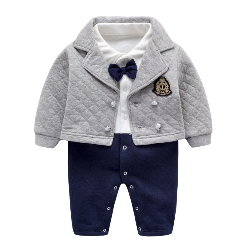 Baby Boy Clothes Sets Winter Newborn Baby Clothes 2 PCS Cotton Romper Jumpsuit Gentleman Costume Baby Rompers Infant Boy Clothes newborn baby clothes winter baby boy clothes cotton romper jumpsuit gentleman costume baby rompers infant boy clothes 0 12m