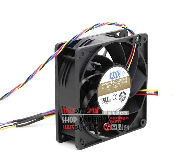 ФОТО 48V 0.54A 12cm 2B12038B48M four line PWM with joint industrial cooling fan