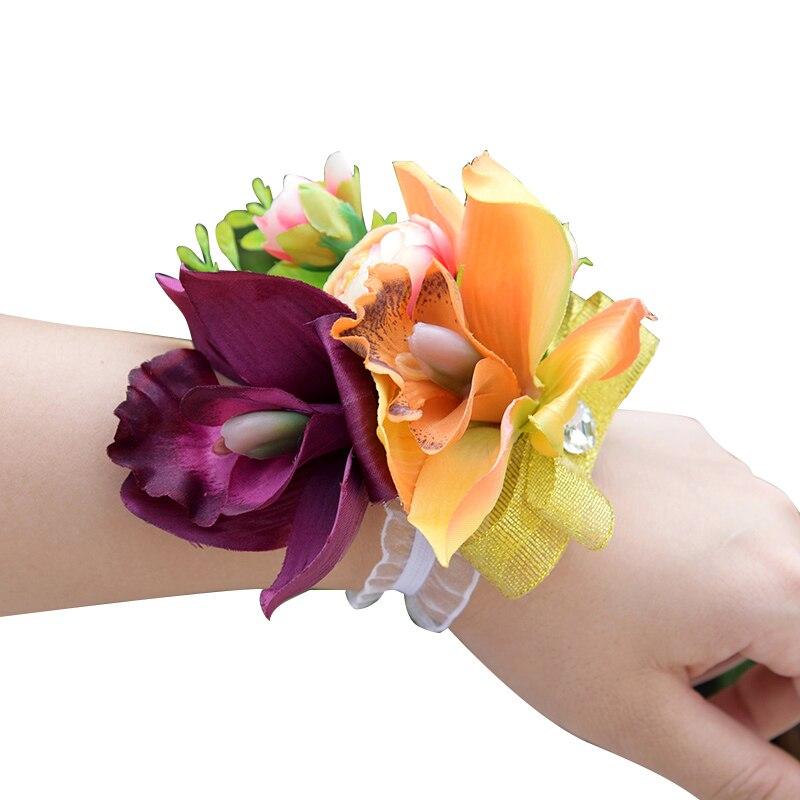 1 -   Romantic Synthetic Wedding ceremony Bouquets Flower 2018 Boutonnieres for Groomsman Man Go well with Bridemaid Wrist Corsage Wedding ceremony Equipment HTB1arObfxTI8KJjSspiq6zM4FXag