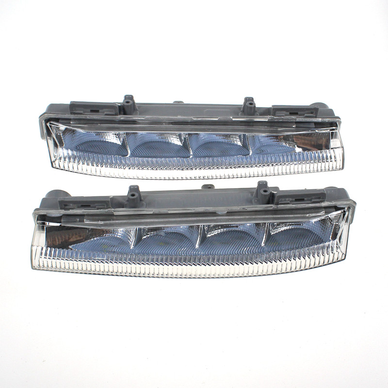 LARBLL New Left&Right Transparent Fog Light Day Daytime Lamp 15W for <font><b>Mercedes</b></font> <font><b>Benz</b></font> W204 W212 R172 <font><b>C300</b></font> 2049068900 2049069000 image