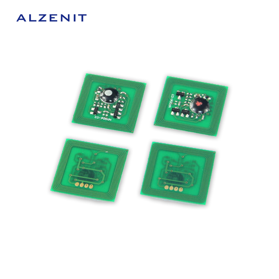 4Pcs ALZENIT For Xerox DCC 5065 6500 6550 5400 7500 OEM New Drum Count Chip Four Color Printer Parts On Sale cs dx18 universal chip resetter for samsung for xerox for sharp toner cartridge chip and drum chip no software limitation
