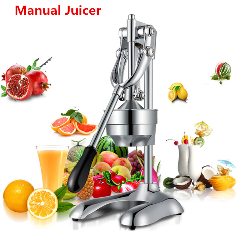 Commercial Stainless Steel Manual Hand Press Juicer Squeezer Citrus Lemon Orange Pomegranate Fruit Juice Extractor mini portable manual juicer fruit citrus orange juice lemon mixer squeezer watermelon lime juice ginger press hand cooking tool