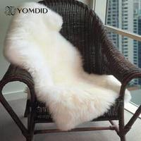 Yumuşak sandalye kanepe kılıfı yatak odası halısı sahte koyun postu kilim Mat ev dekorasyon|faux sheepskin rug|bedroom carpetsheepskin rug -