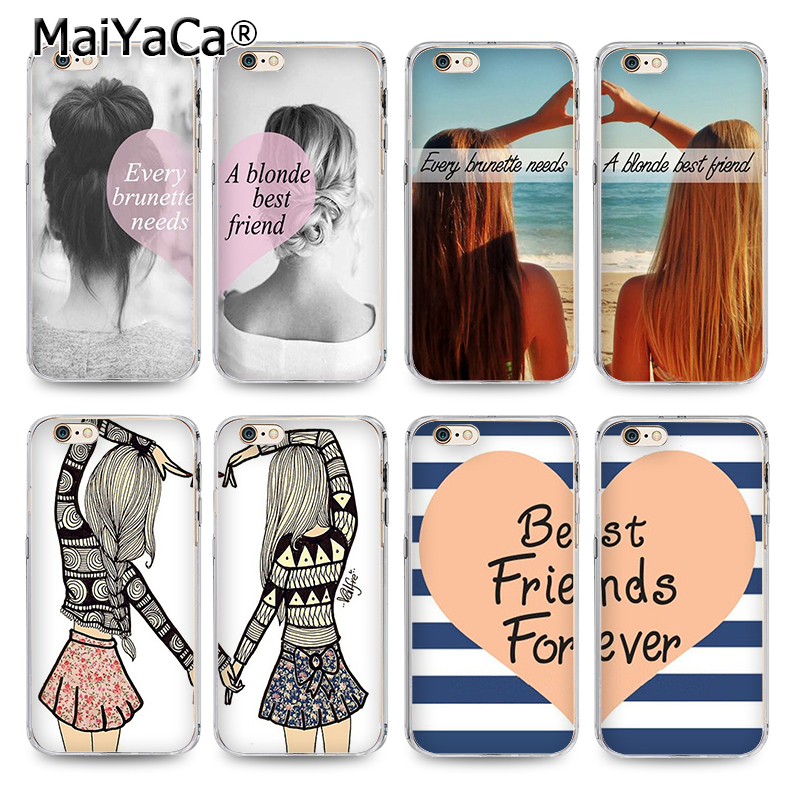 MaiYaCa two girls BFF best friends couple Phone Case Accessories Cover For iPhone 4s 5s  ...