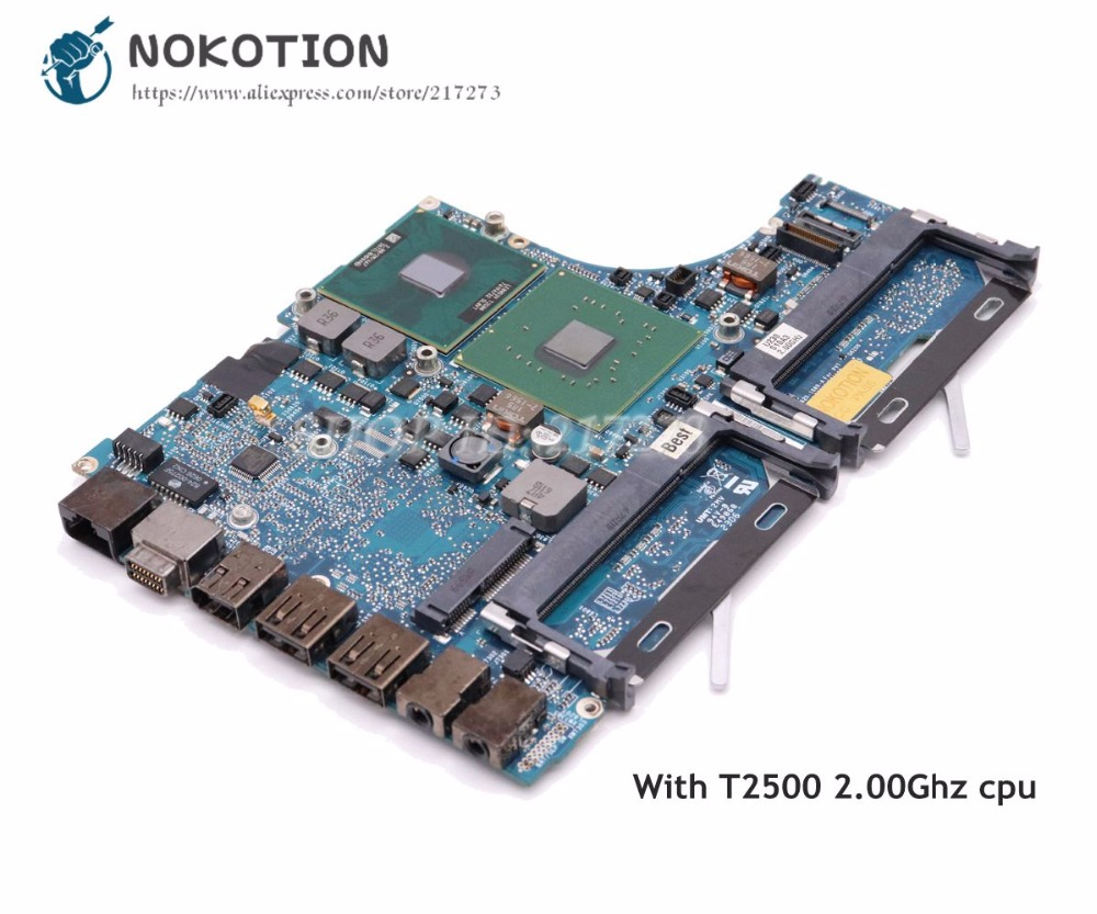 NOKOTION 820 1889 A Logic Board For MacBook pro A1181 PC Motherboard 2006 Year 945GM ddr2 T2500 2.00Ghz
