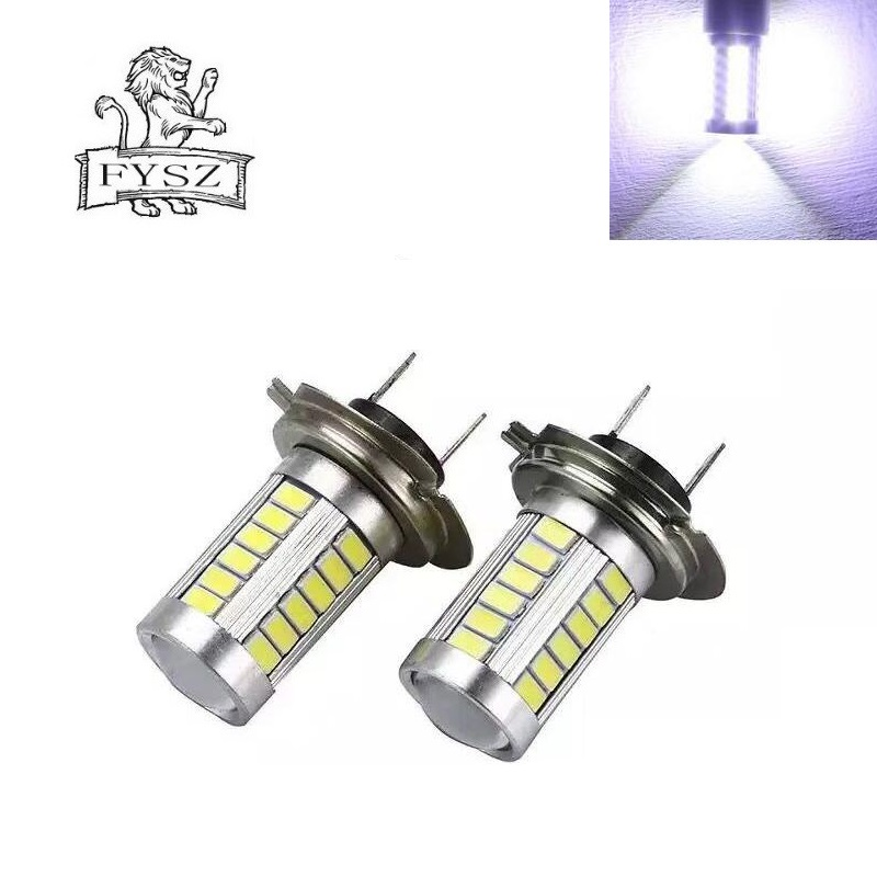 2Pcs Super Bright Car Fog Driving Light Lamp Bulb Auto H7 LED 12V 5630 33-SMD 16.5W 6000K 990lm Headlight Car Lights Accessories