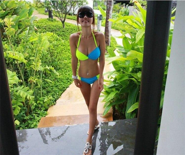 2e2ef48dfa4ad Women Sexy Shiny Cheap Brazilian Bikini Set Two Pieces Plus Size Swimsuit  Beach European Outdoor Bathing Suit Push Up Swimwear on Aliexpress.com