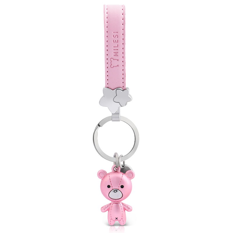 Milesi Car Keychain Charms Hängsmycke För Car Key Bear Shape Lovers Dekorativ nyckelring Creative Gift For Couple k0208
