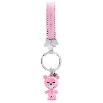 Milesi voiture porte-clés pendentif à breloques pour voiture clé ours forme amoureux décoratif porte-clés cadeau créatif pour Couple k0208