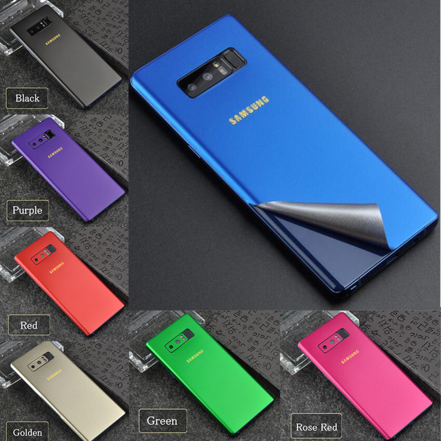 Phone Case All-inclusive Stickers for Samsung Note 8 S9 Plus Back Foil Ice Film Chinese Red Border Side Film Screen Protectors