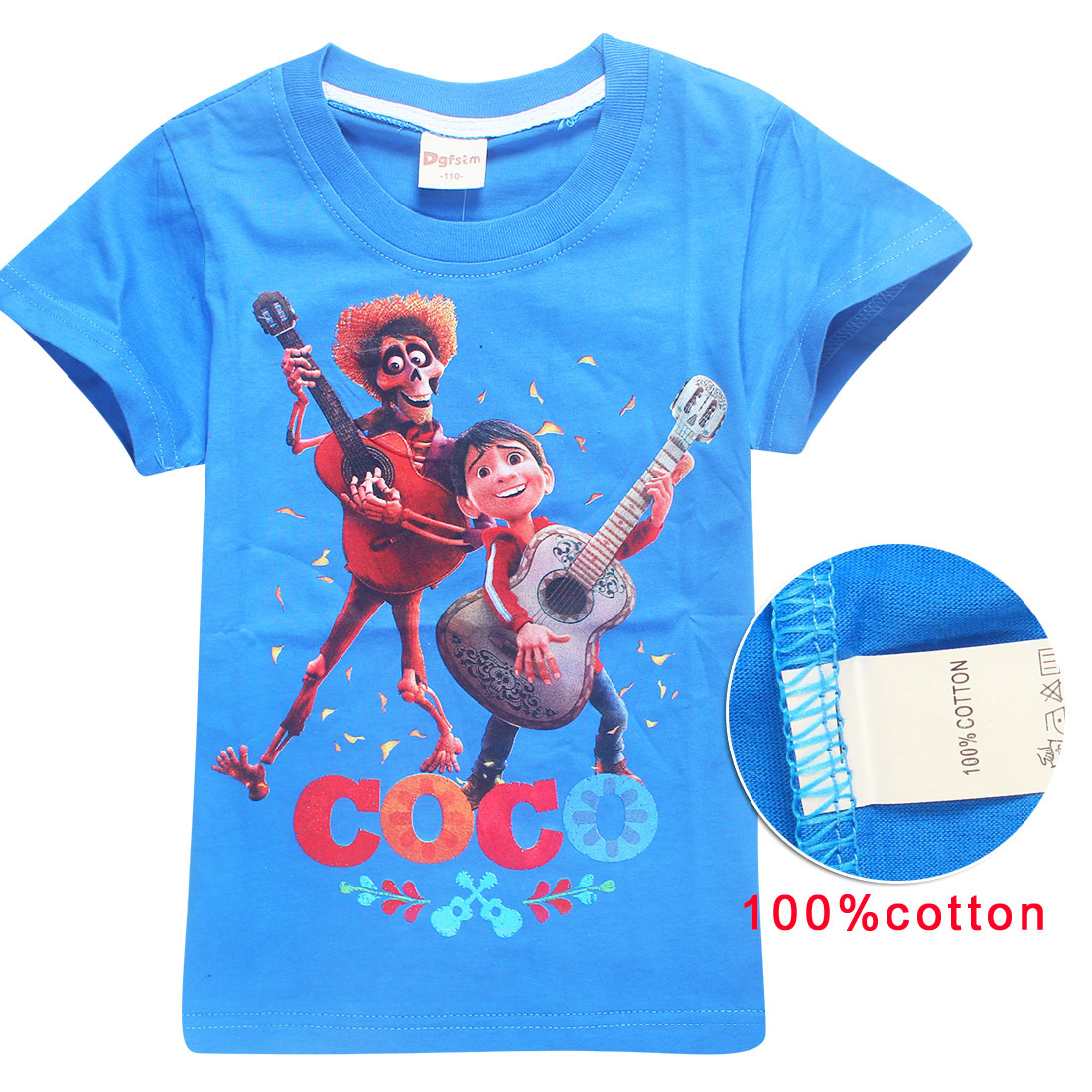 2018 New Summer Childrens Wear 100%Cotton tshirt summer COCO children T-shirts Baby Boys and Girls Short Sleeve Top tee Clothes