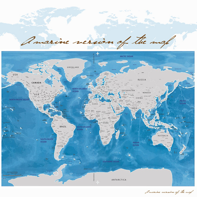 Yazi scratch map travel wall sticker blue ocean traveler scratch off yazi scratch map travel wall sticker blue ocean traveler scratch off personalized world map poster travel gumiabroncs Images