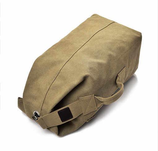 Мужская сумка для багажа армейский рюкзак-ведро повседневный рюкзак многофункциональный военный холщовый рюкзак дешёвые Наплечные сумки