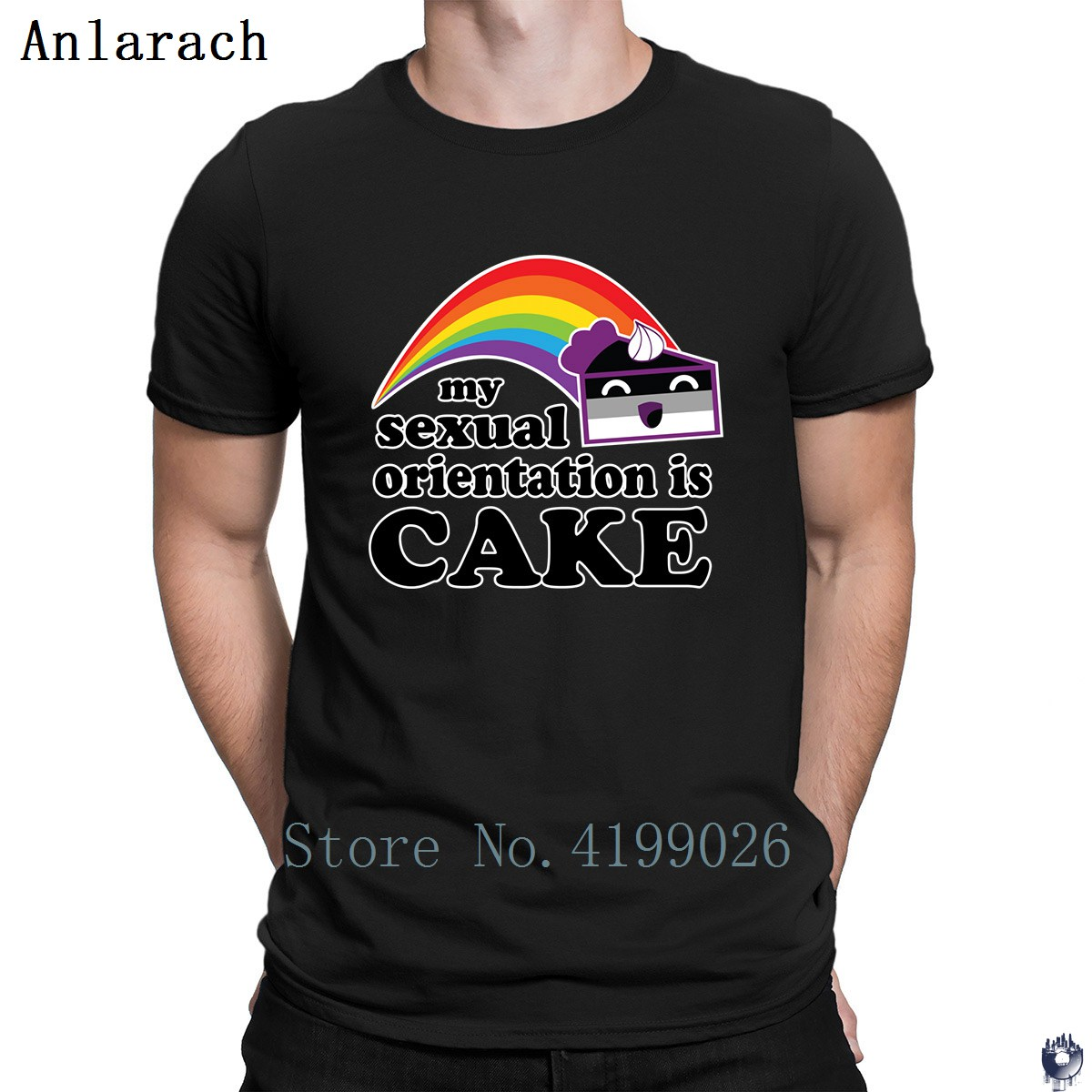 Sexual Orientation Cake <font><b>Asexual</b></font> <font><b>Pride</b></font> LGBTQ t-shirt HipHop Top Great Knitted Hot sale men's tshirt gents big sizes 2018 image