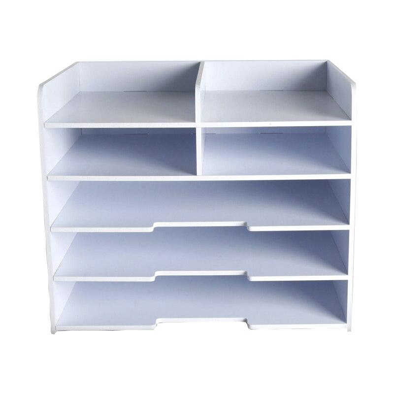 Simple File Tray Multi function File Rack Office Supplies Desktop Storage Box A4 A5 Bills Data