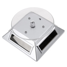 Solar-Showcase Turntable Jewelry Rotating-Watch White/black 360-Degree Color-Change 3LED