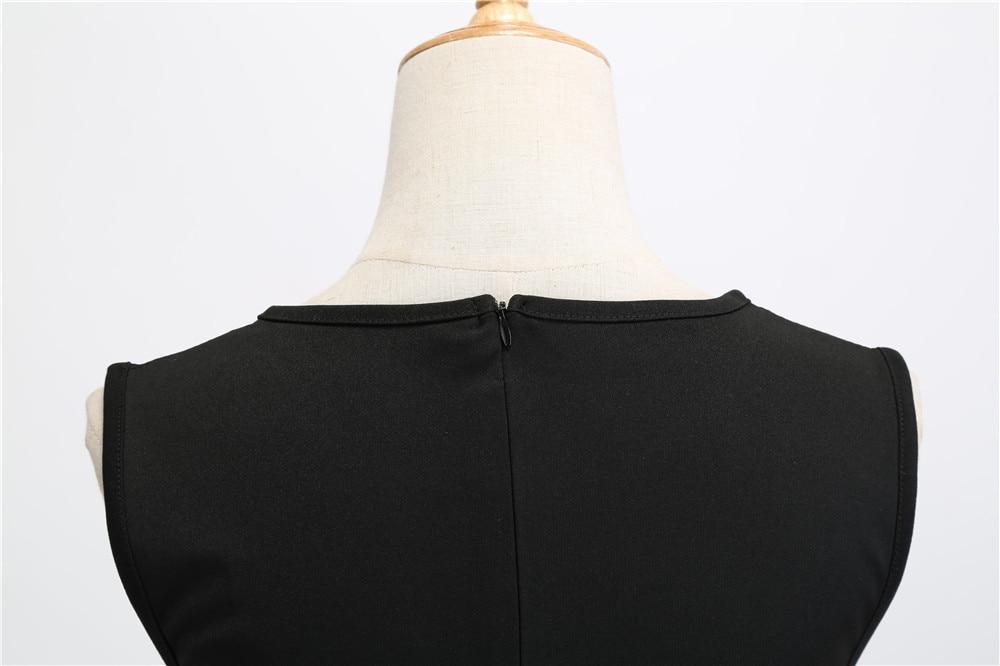 HTB1arQ8biHrK1Rjy0Flq6AsaFXa3 Women Summer Dresses 2019 Robe Vintage 1950s 60s Pin Up Big Swing Party Work Wear Rockabilly Dress Black Polka Dot Vestidos