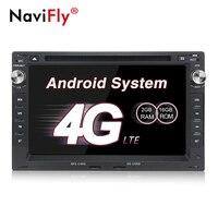 NaviFly 7 Android 7,1 dvd плеер автомобиля gps навигация для VW/Volkswagen/PASSAT/B5/MK5/Гольф/поло/транспортер 2G RAM 2din 4G LTE