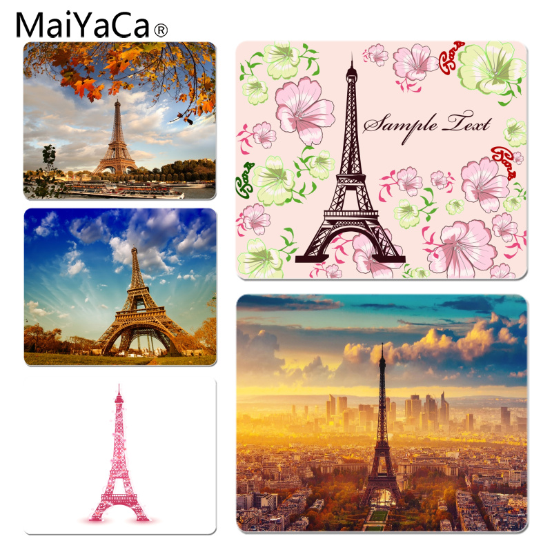 MaiYaCa Funny France Paris the Eiffel Customized laptop Gaming mouse pad Size for 180x220x2mm and 250x290x2mm Small Mousepad