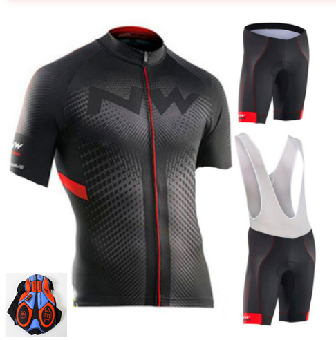 Northwave NW Summer Cycling Jersey Set Breathable MTB Bicycle Cycling Clothing Mountain Bike Wear Clothes Maillot Ropa Ciclismo
