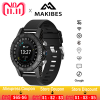 11.11 6usd Coupon Free shipping Makibes MK01 Smart watch WIFI 4G GPS Heart Rate Bluetooth Quad Core Google Map I7 Watches Phone