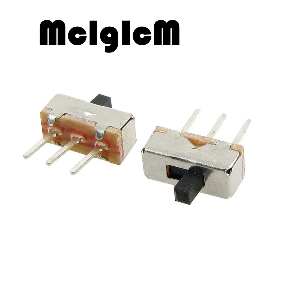 200pcs  Toggle Switch Micro Slide Switch 3P 1P2T SPDT 0.5A 50V DC, Handle length: 3MM Interruptor on-off 1 Way 2 Band 6 feet slide switch handle sk22d07 toggle switch 2 gear 4 mm