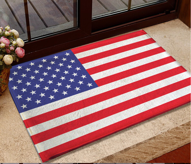Entrance Doormat National Usa Flag