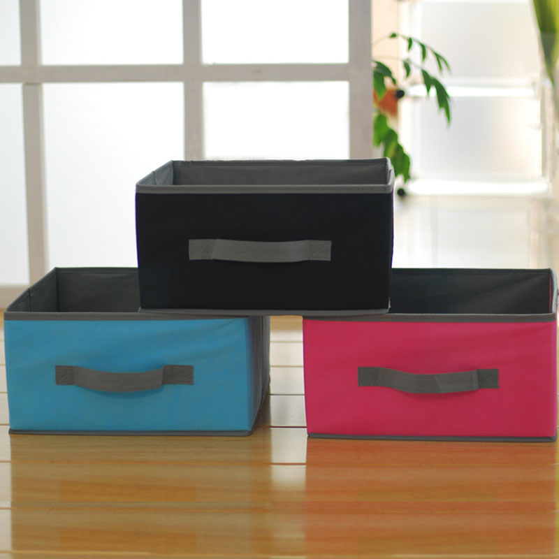 High Quality Clothes Storage Box Book Organizer Fabric Storage Toy Bin Pink  Blue Medium Storage Basket 31.5x31.5x16.5cm 2pcs/set In Storage Boxes U0026  Bins ...