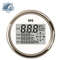 Newly 85mm Universal GPS Digital Speedometer 120KM Stainless Steel Waterproof Digital Gauge Car Truck Boat Motorcycle 12V/24V