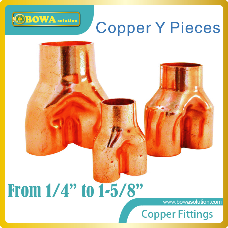где купить Excellent quality copper Y pieces installed in VRV air conditioner or multi-evaporator refrigeration system, mixed buy available по лучшей цене