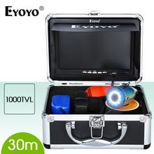 Eyoyo Original 30M Underwater Fishing Camera White LED Ice fish finder HD 1000TVL Fish CAM 7 inch Monitor