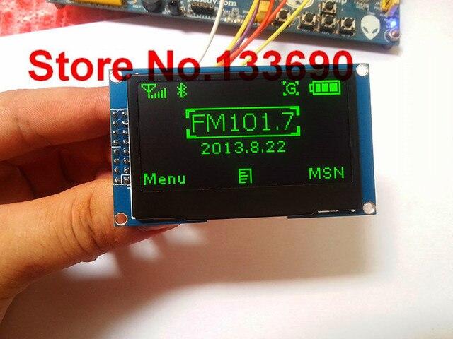 3.3v 2.42 cal zielony 128x64 moduł wyświetlacza oled moduł oled 8bit 6800/8080 4 SPI seryjny I2C interfejs iic 16PIN SSD1309 sterownik