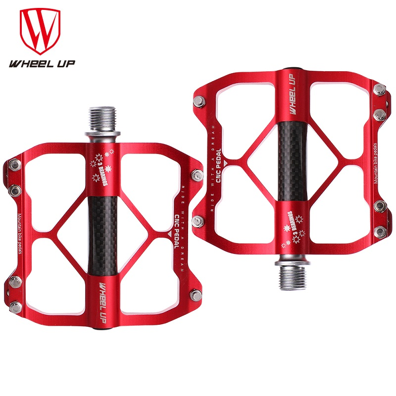 WHEEL UP New Aluminum Alloy MTB Mountain Bike Pedal CNC 3 Bearings BMX Anti-skid Ultralight Bicycle Cycling Pedal Bicycle Part