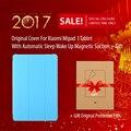 Original para xiaomi mipad 1 tablet cubierta con sleep automático up de succión magnética para xiaomi mi pad 1 regalo película protectora