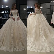 Baroque Summer Wedding Dresses 2019 Long Sleeve Bridal gown