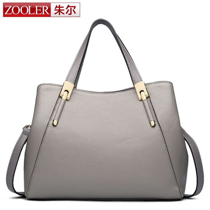 ZOOLER Genuine Leather Bag for Women Luxury Brand Designer Real Leather Handbags Ladies Casual Shoulder Messenger Bags Business тапочки beppi beppi be099amlmo35
