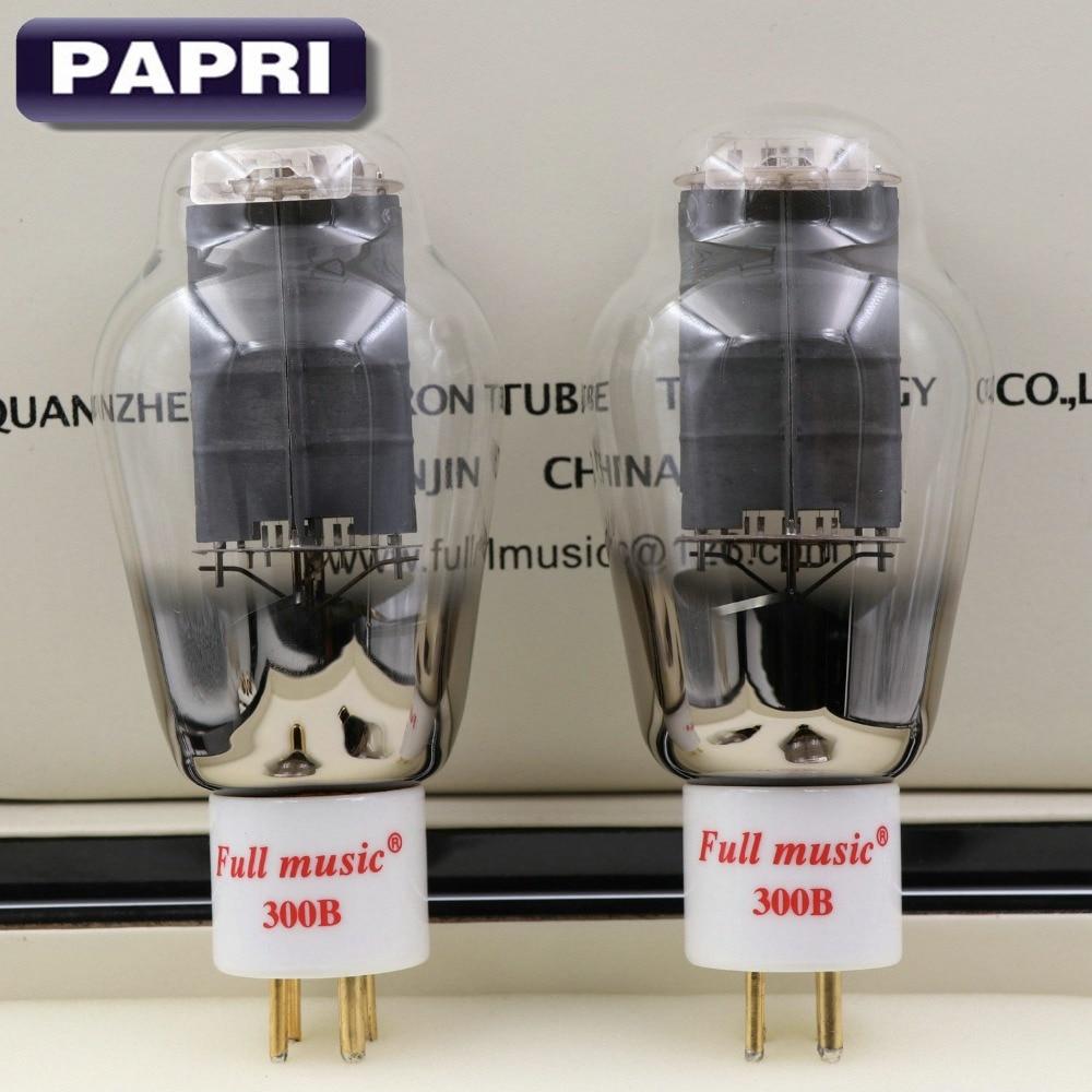 1Pair TJ Fullmusic 300B Vacuum Tube Solid Plate Gold Pins Ceramic Base Alternative To Other Brands 300B Vacuum Tuba Audio