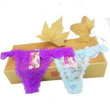 Cotton three cat Women's Sexy Thongs G-string Underwear Panties