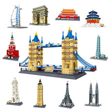 цена на Wange World Famous Great Architecture Model set classic City Building Blocks Bricks education Toys for Children collection Gift