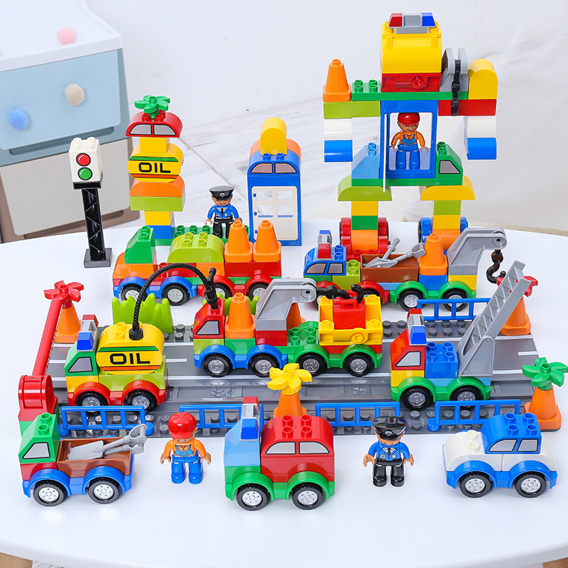 106pcs Building Blocks Compatible Big Size Car Educational Hobbies Toys For Children Cool Gift