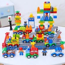 106pcs Building Blocks Compatible Big Size Car Educational Hobbies Toys For Children Cool Gift