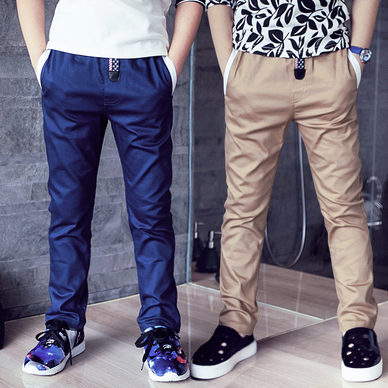 2019 Fashion Boys Solid Color Pants 100% Cotton Boy Cargo Pants Child Trousers Boys Pants Casual Pants For Boys Trousers
