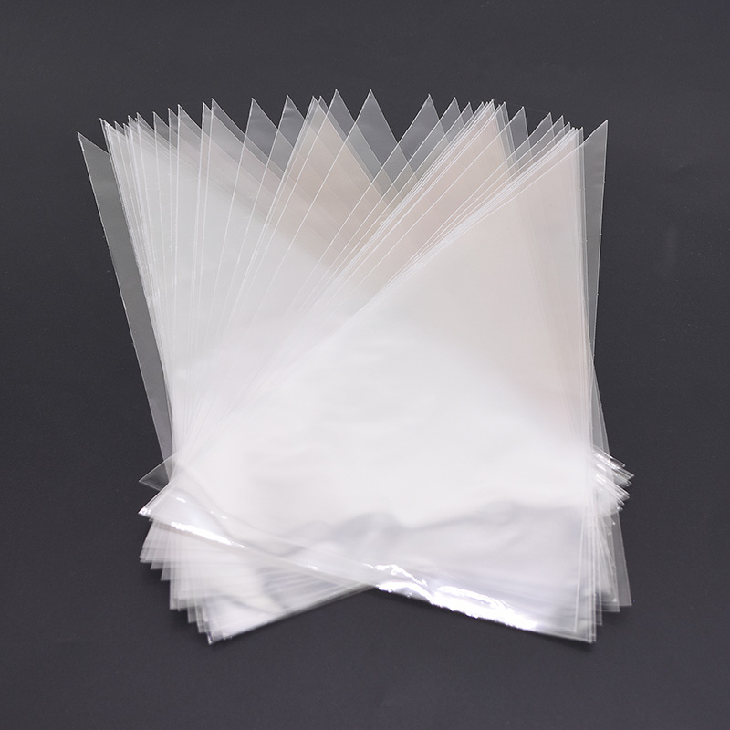 50Pcs S/M/L Transparent Cone Bags Clear Cello Plastic Gift Bags Sweets Treat Bags Gold Twist Ties Seal Pouches Party Supplies