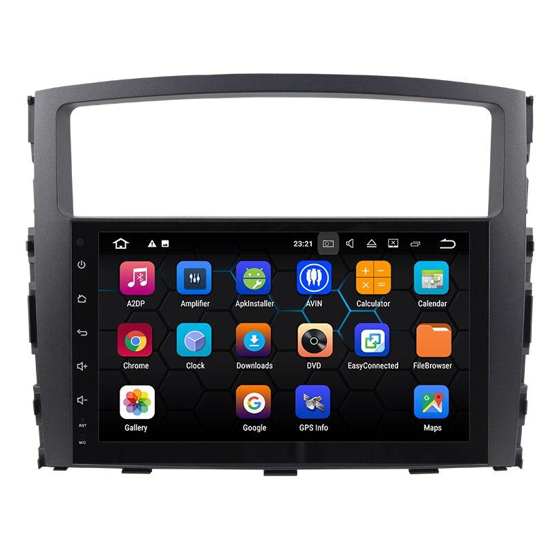 Eunavi 2 din 1024*600 HD Android 9 Auto Radio für MITSUBISHI PAJERO V97 2006-2015 GPS stereo 4GB 64GB Octa 8 core tda7851 keine dvd