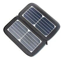 Carregador de para o Telefone Buheshui 12 W 5 V Painel Solar Dobrável Universal Viagens Dual USB À Prova D' Água Nova